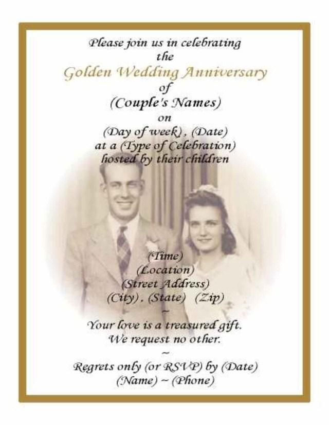 50Th Wedding Anniversary Invitations Printable 50th Wedding Anniversary Invitations With Pic Background