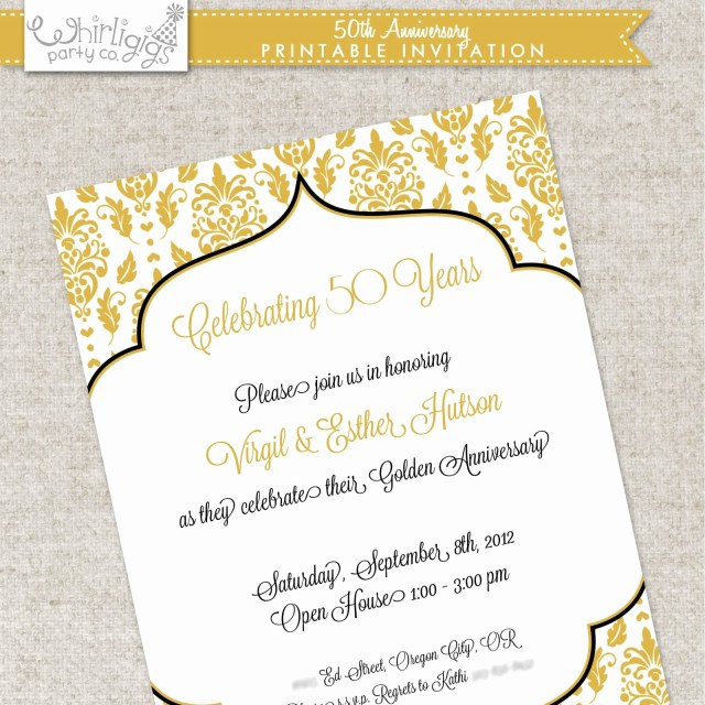 27 Awesome Photo Of 50Th Wedding Invitations
