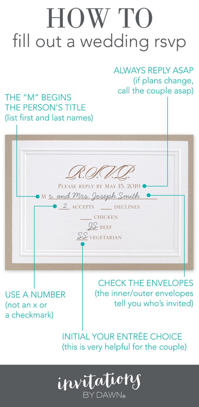 Addressing Wedding Invitations Outer Envelope Only Fill Out A Wedding Rsvp Invitations Dawn