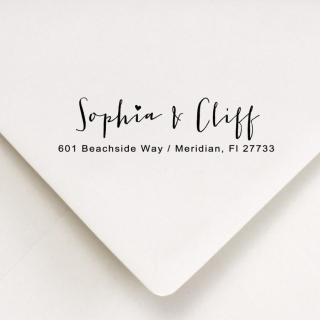 Addressing Wedding Invitations Return Address Calligraphy Stamp Envelope Addressing Couples