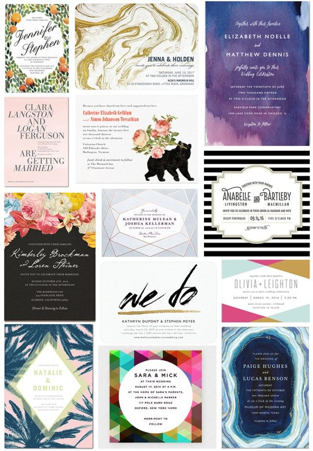 Affordable Wedding Invites 35 Stylish Wedding Invitations That You Can Actually Afford