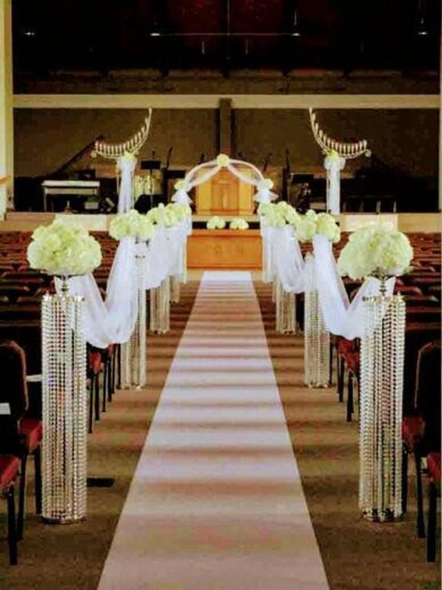 Altar Decorations Wedding Aisle Decorationschandelier Centerpieces Chandelier Etsy