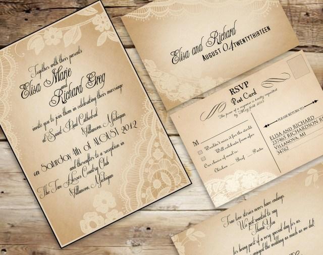 Antique Wedding Invitations 30 Unique Vintage Wedding Invitations Das Beste Vintage Einladung