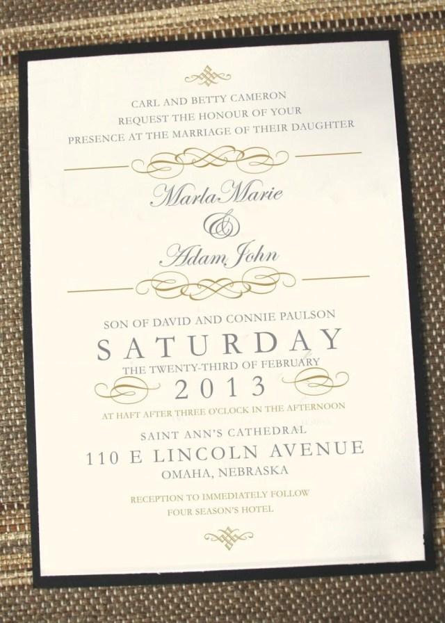 Antique Wedding Invitations Elegant Wedding Invitations Timeless Wedding Invitations Gold