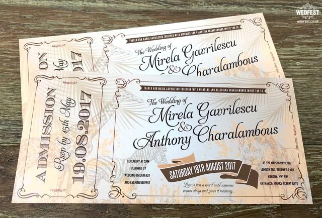 Antique Wedding Invitations Vintage Festival Ticket Wedding Invitations Wedfest