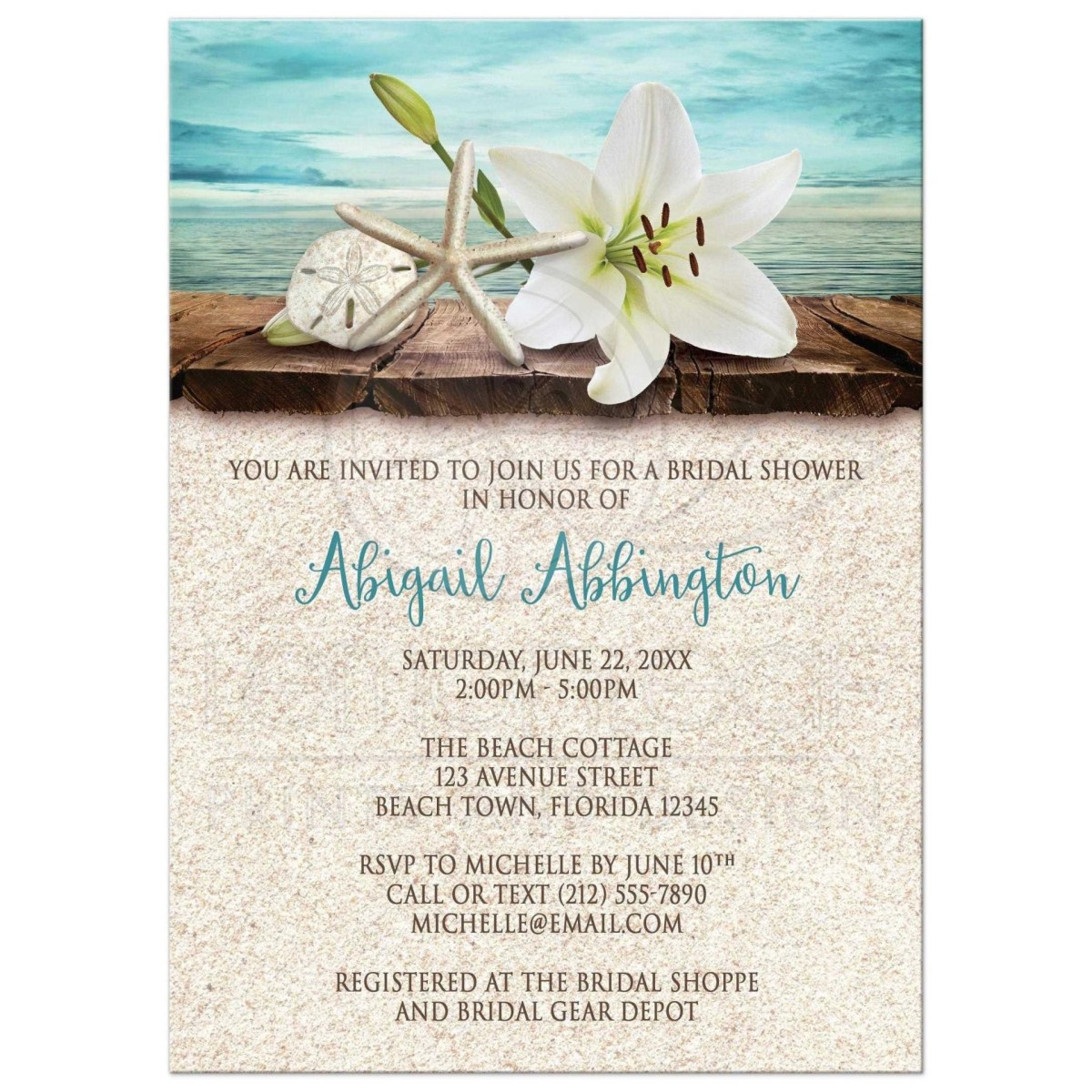 Backyard Wedding Invitation Wording Samples Outdoor