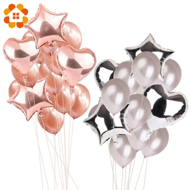 Baloon Decorations Wedding 14pcs 12inch 18inch Multi Air Balloons Happy Birthday Party Helium