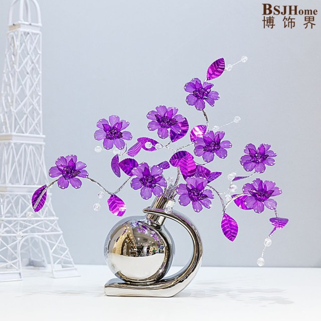 Bar Wedding Decor Minimalist Ceramic Acrylic Creative Simple Fashion Flowers Vase Home