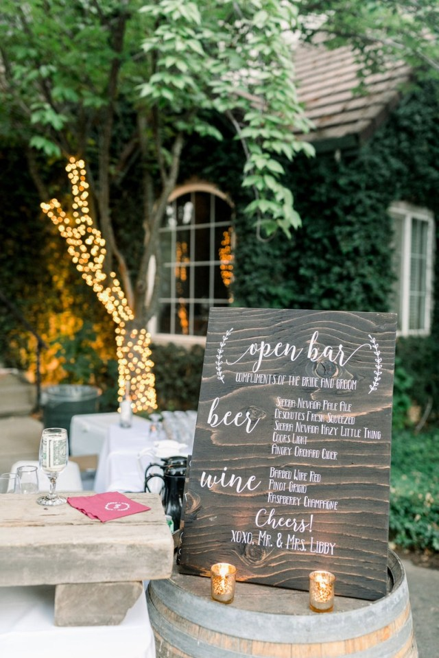 Bar Wedding Decor Open Bar Wedding Reception Sign Diy Wedding Decal Sign Etsy