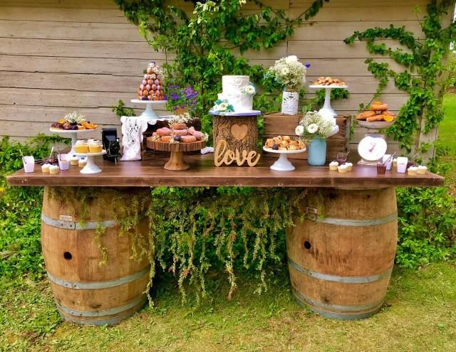 Barrell Wedding Decor Dessert Table Decor Archives Joani Wedding Decor