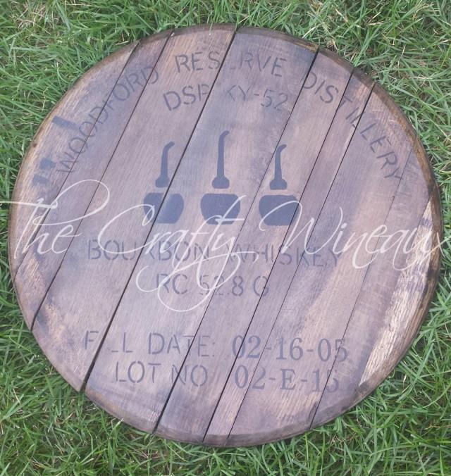 Barrell Wedding Decor Free Shipping Custom Monogramed And Date Bourbon Barrel Head