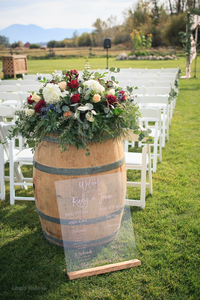Barrell Wedding Decor Jenni Rudy Wedding Gallery Montana Wildflower Weddings