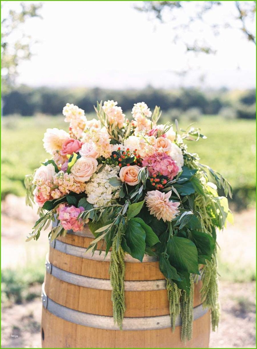 Beautiful Wedding Idea Wedding Ceremony Flowers Beautiful Wedding Decor With Wine Barrels
