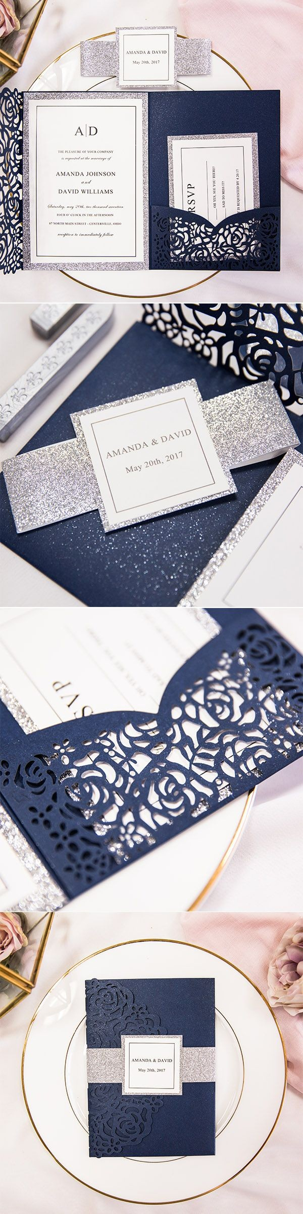 Blue And Silver Wedding Invitations Blue And Silver Wedding Invitations Unique Wedding Invitations