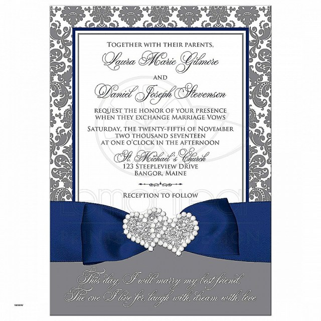 Blue And Silver Wedding Invitations Royal Blue And Silver Wedding Invitations Elegant 40 New Wedding