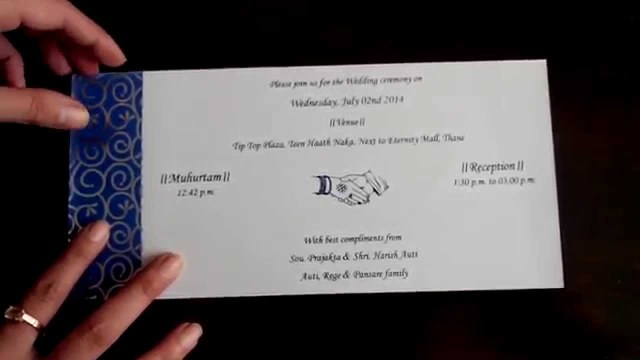 Blue And Silver Wedding Invitations Wedding Invitation In Royal Blue And Silver Colour Youtube