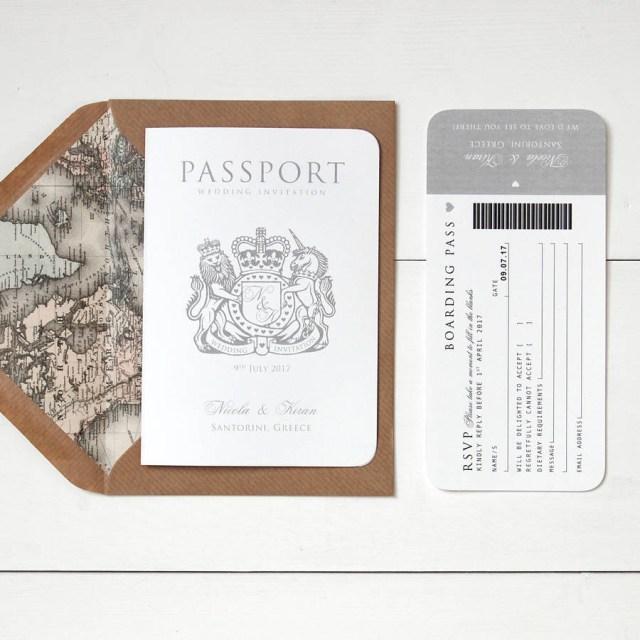 Book Wedding Invitations Around The World Passport Wedding Invitation Ditsy Chic