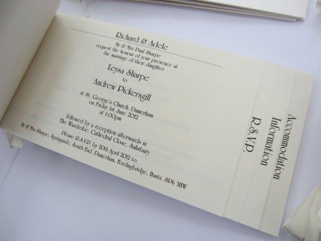 Book Wedding Invitations Cheque Book Style Wedding Invitation Plain Paper Inserts Party