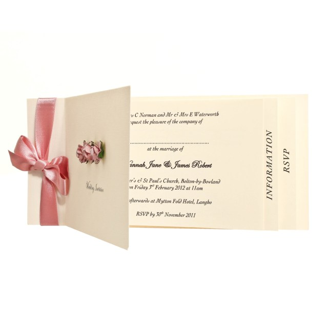 Book Wedding Invitations Chequebook Sample Any Design Cards Sophie Exquisite Modern