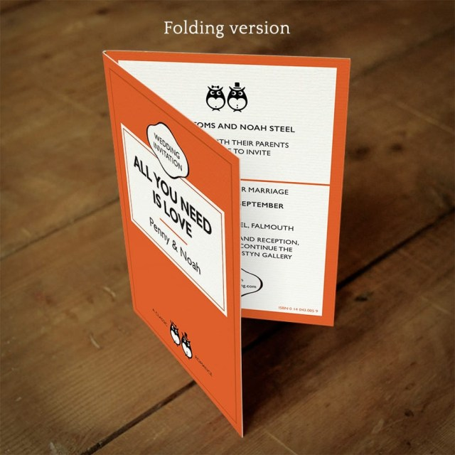 Book Wedding Invitations Disabled Penguin Classic Wedding Invitation Feel Good Wedding