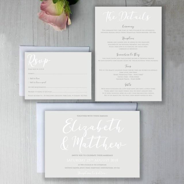 Calligraphy Wedding Invitations Modern Traditional Calligraphy Wedding Invitation Beija Flor