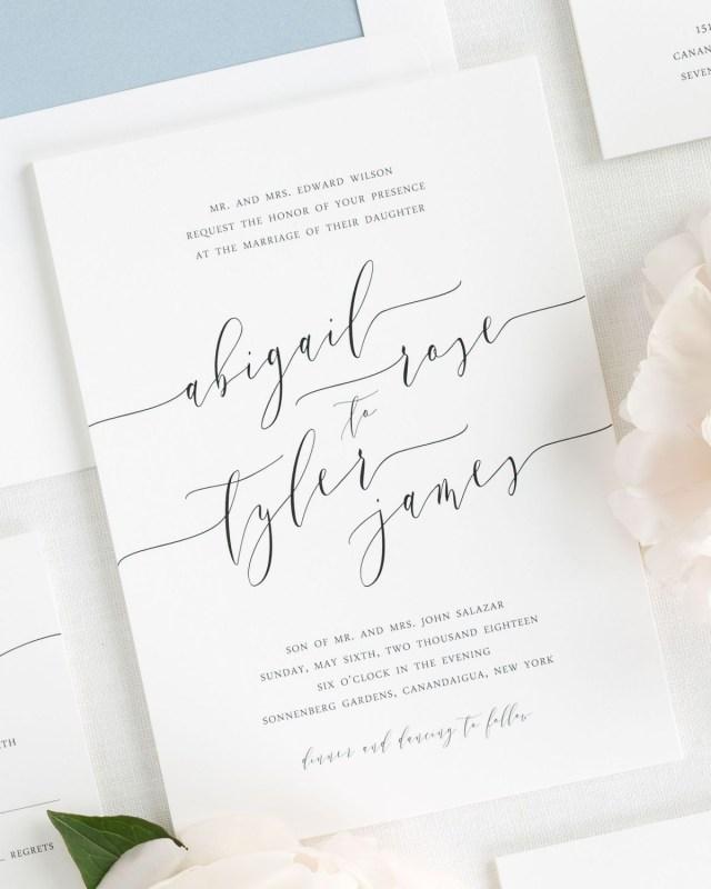 Calligraphy Wedding Invitations Romantic Calligraphy Wedding Invitations Wedding Invitations Shine
