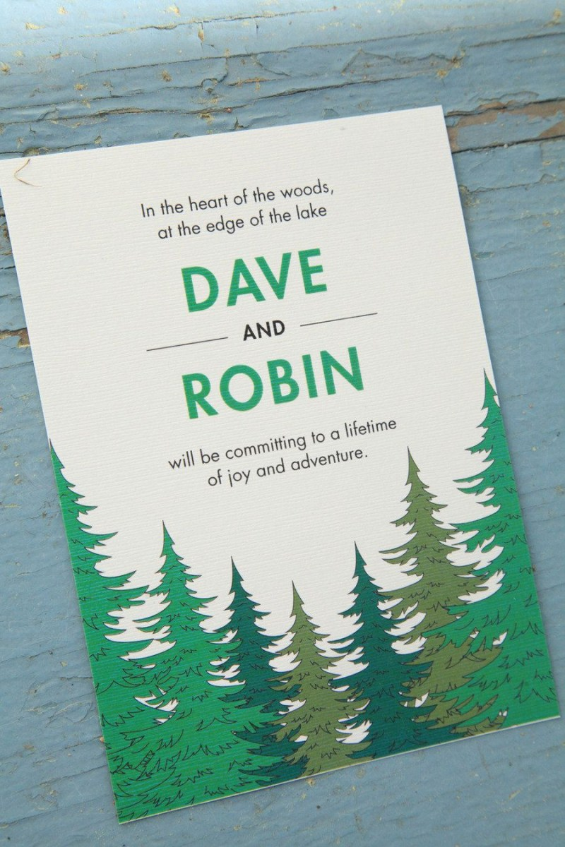 Camping Wedding Invitations Camp Wedding On Golden Lake From A Simple Photograph Honey Dear