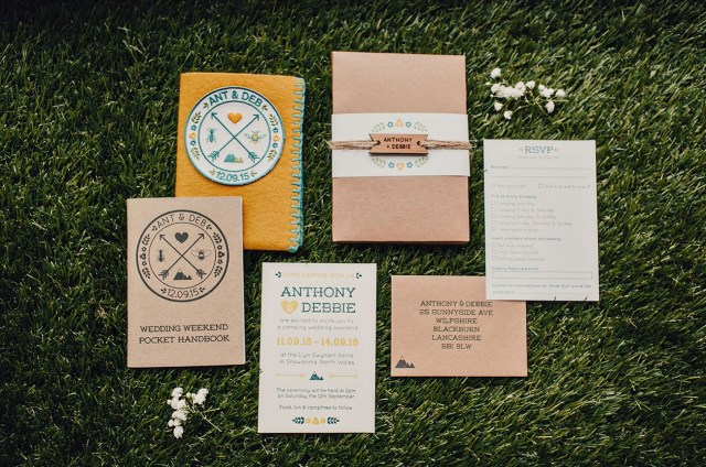 Camping Wedding Invitations Diy Rustic Camping Wedding Debbie Anthony Wedding Whimsies