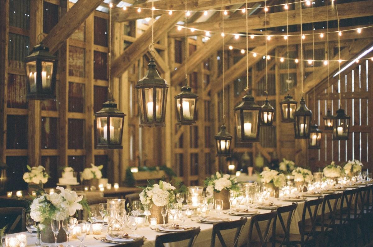 Candlelight Wedding Decor Candlelight Barn Reception Elizabeth Anne Designs The Wedding Blog
