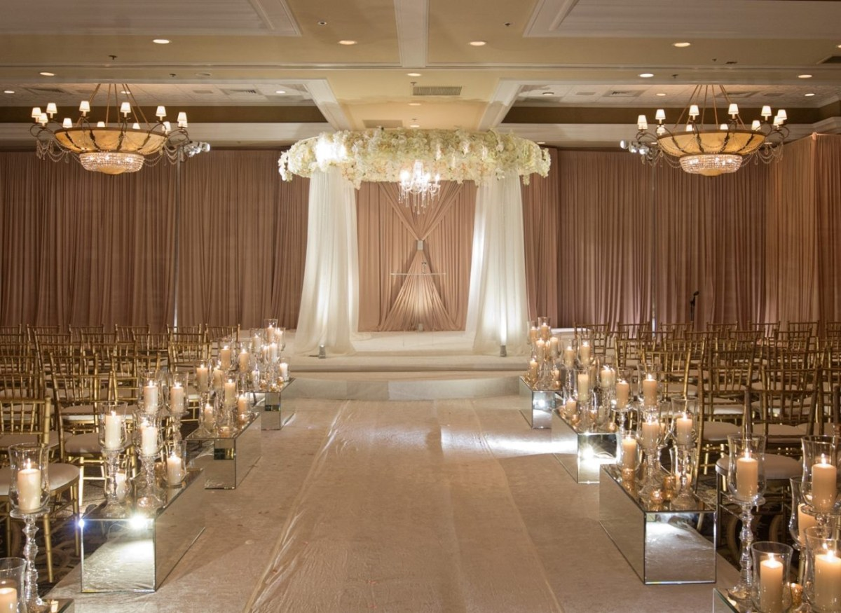 Candlelight Wedding Decor Jewish Wedding Ceremony Dcor Wedding Flowers And Decorations