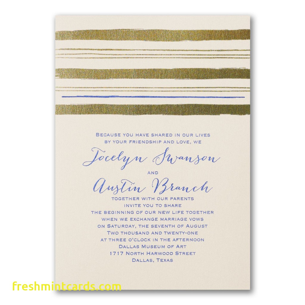 Carlson Wedding Invitations Wedding Invitations Carlson Craft Inspirational Painted Stripes