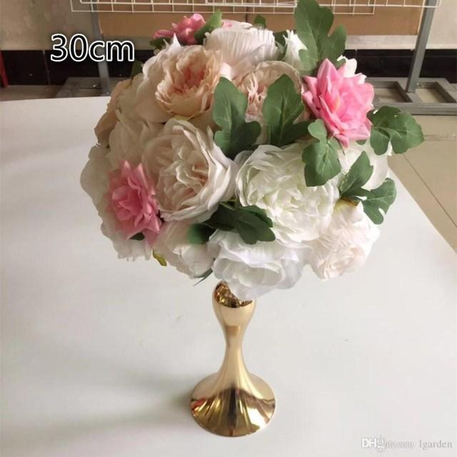 Centerpieces For Wedding 2019 Artificial30cm Flower Ball Centerpieces For Wedding Party