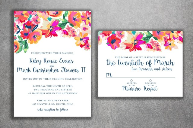 Cheap Invitations Wedding Floral Wedding Invitations Cheap Floral Wedding Invitations