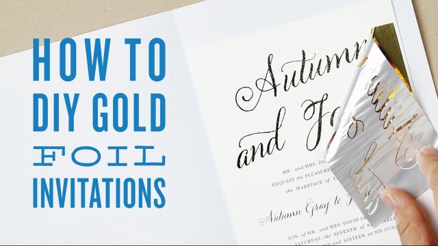 Cheap Invitations Wedding How To Gold Foil Print Using A Laminator Cheap Diy Gold Foil