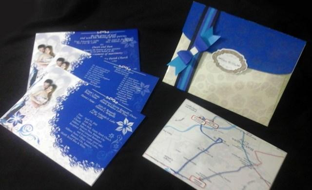 Cheap Invitations Wedding Wedding Invitations Elegant In Royal Blue Motif Stain Art Designs