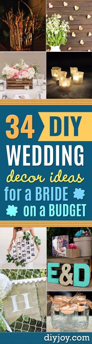 Cheap Wedding Ideas 34 Diy Wedding Decor Ideas For The Bride On A Budget