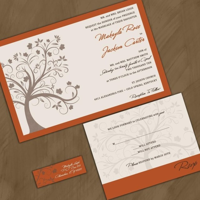 Cheap Wedding Invitation Kits Fall Wedding Invitations Cheap Wedding Pinterest Cheap Wedding