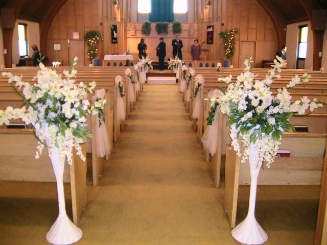 Church Wedding Decoration With Simple Church Wedding Decorations Wedding Decorations Referance