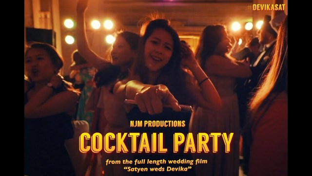 Cocktail Party Wedding Cocktail Party Devika Weds Satyen Teaser Film Youtube