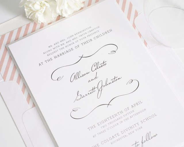 Country Chic Wedding Invitations Chic Country Wedding Invitations In Blush Wedding Invitations