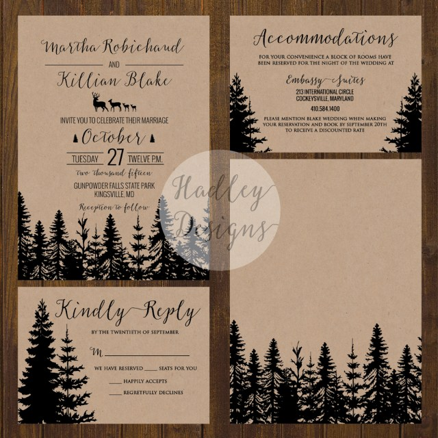 Country Chic Wedding Invitations Hadley Designs Rustic
