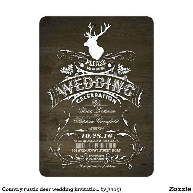 Country Rustic Wedding Invitations Country Rustic Deer Wedding Invitations Rustic Wedding