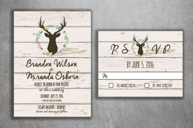 Country Rustic Wedding Invitations Deer Wedding Invitation Country Wedding Invitations Rustic Wedding