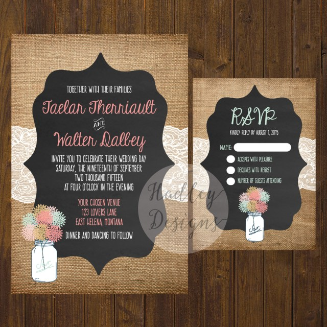 Country Rustic Wedding Invitations Hadley Designs Rustic