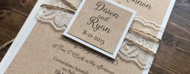 Country Rustic Wedding Invitations Rustic Wedding Invitation Vintage Wedding Invitation Lace Wedding