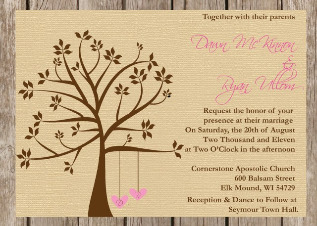 Country Wedding Invitation Wording Invitations Popular Rustic Tree Wedding Invitations Card Ideas
