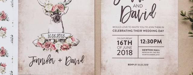 Country Wedding Invites Stag And Rose Country Wedding Invitation Set I Am Nat