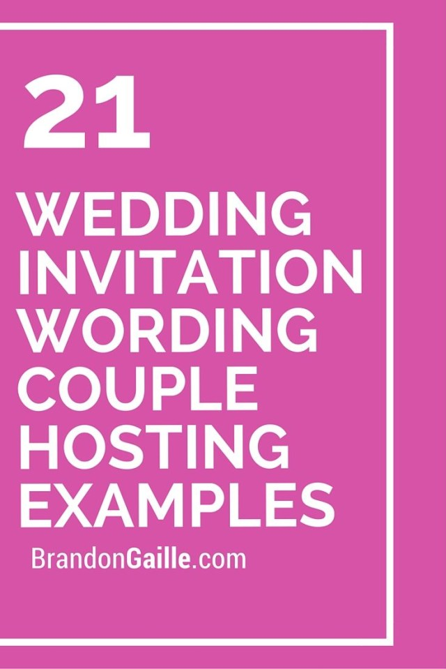 Couple Hosting Wedding Invitation Wording 21 Wedding Invitation Wording Couple Hosting Examples Messages And