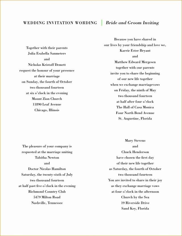 Couple Hosting Wedding Invitation Wording Lovely Sample Wedding Invitation Wording Couple Hosting Top