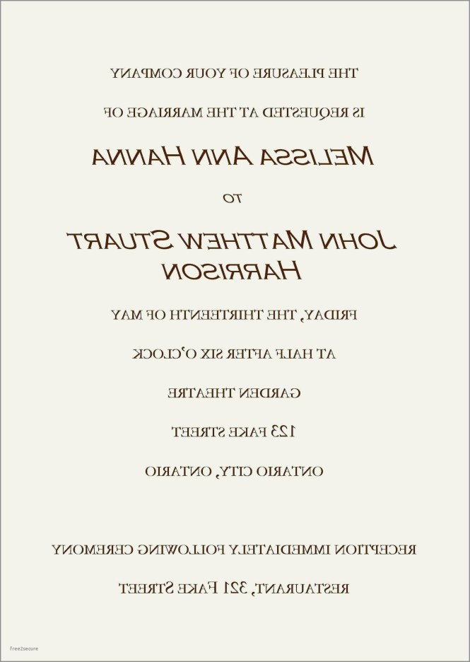 Wedding Invitation From Child